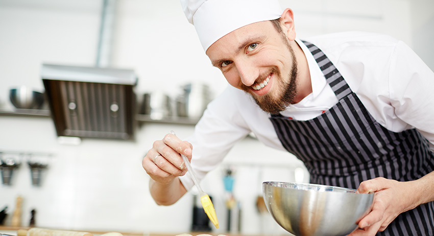 Happy chef making thc edibles. where to buy edibles in scarborough.